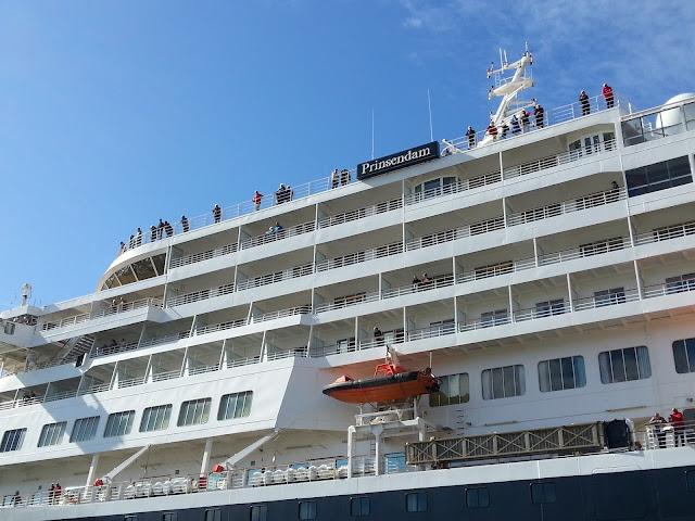 Holland America cruise ship Prinsendam in Bergen, Norway; Ships in Bergen
