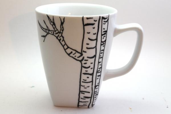 resimli porselen kupa bardaklar