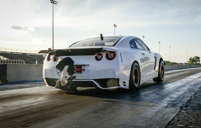 Alpha G Nissan GTR R-35 by AMS Performance drag race