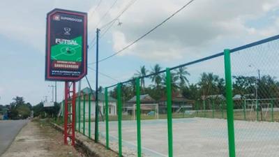 Kades Sanreseng Ade Bangun Lapangan Futsal Pakai Dana Desa