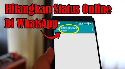 Cara agar tidak terlihat online di whatsapp 2019