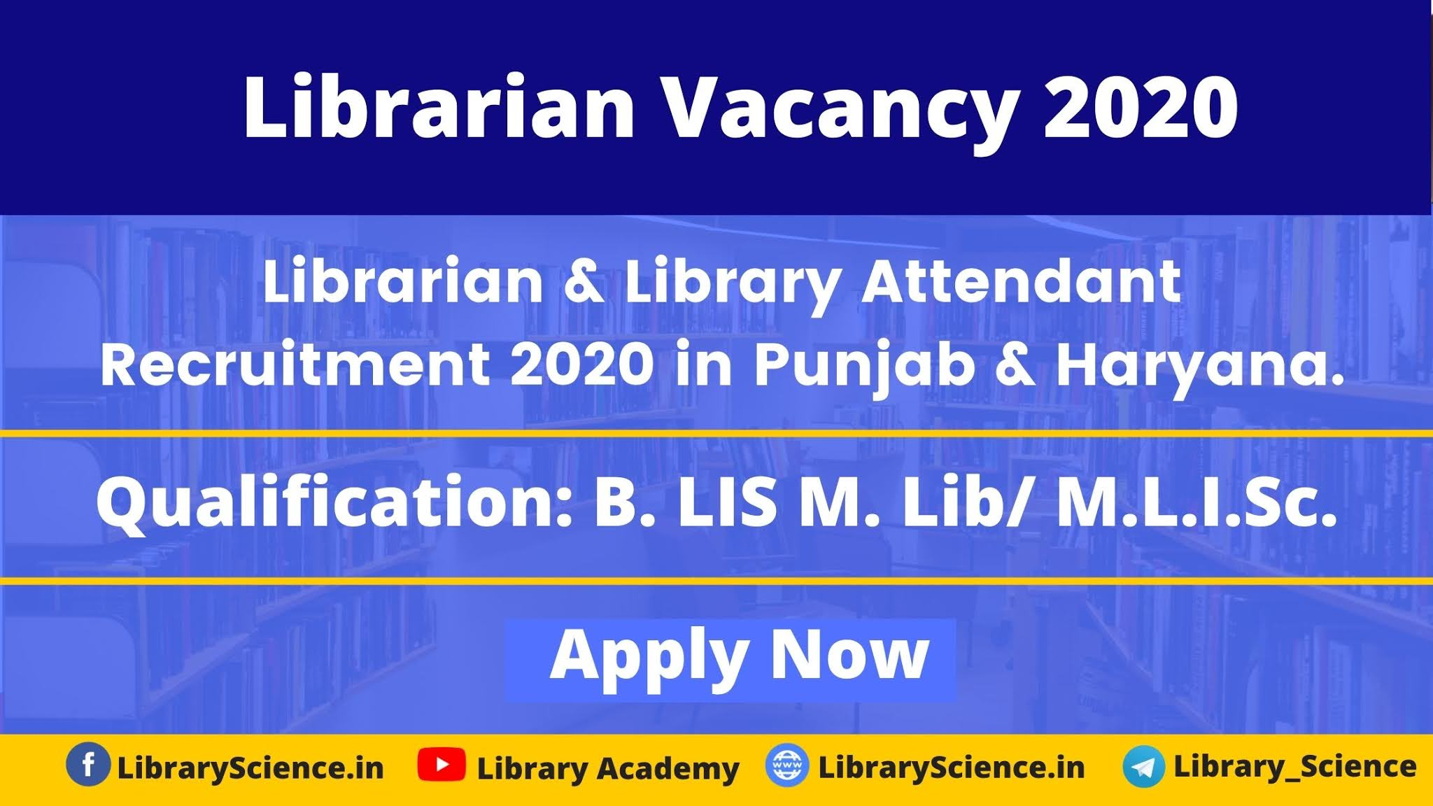 Library Vacancy 2020 in Punjab