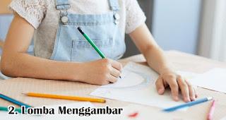 Lomba Menggambar merupakan salah satu ide lomba 17an seru dan edukatif untuk anak