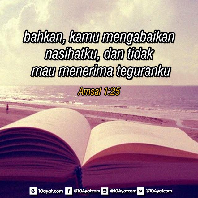 Amsal 1:25