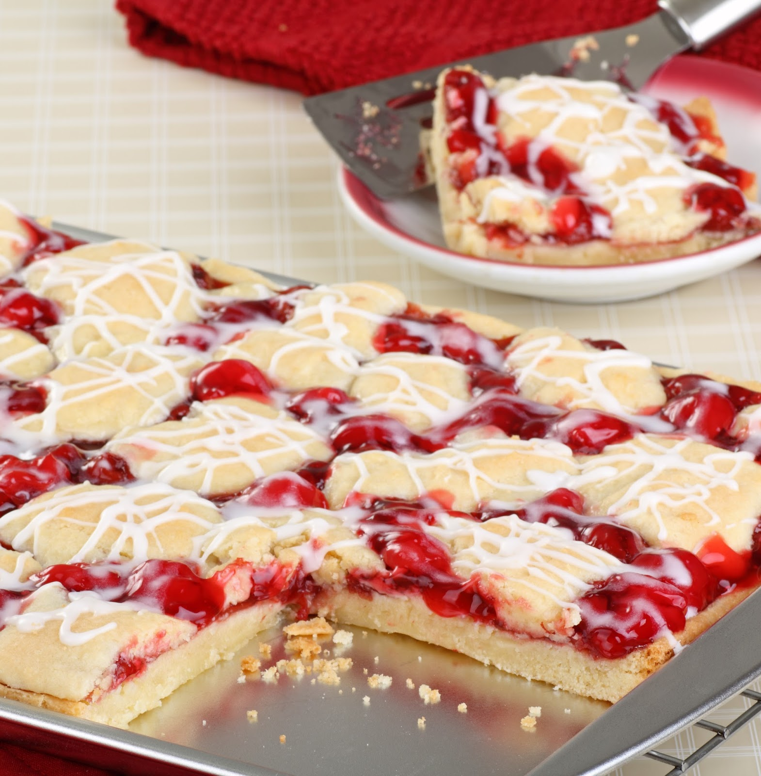 Cherry Pie Bars - The Country Cook