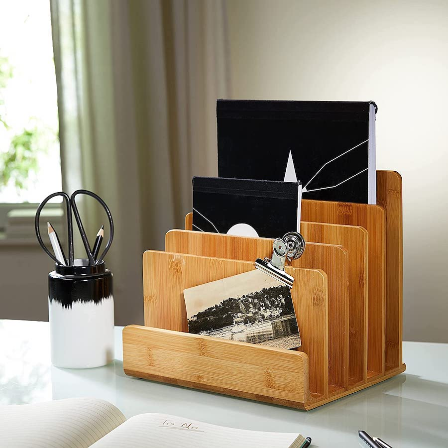 Organizador de escritorio de madera