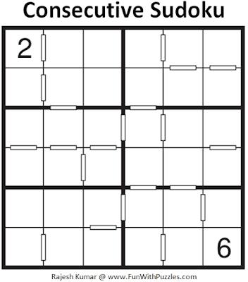 Consecutive Sudoku Puzzle (Mini Sudoku Series #104)