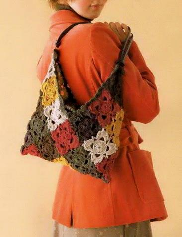 Crochet Bag, Crochet Squares, easy