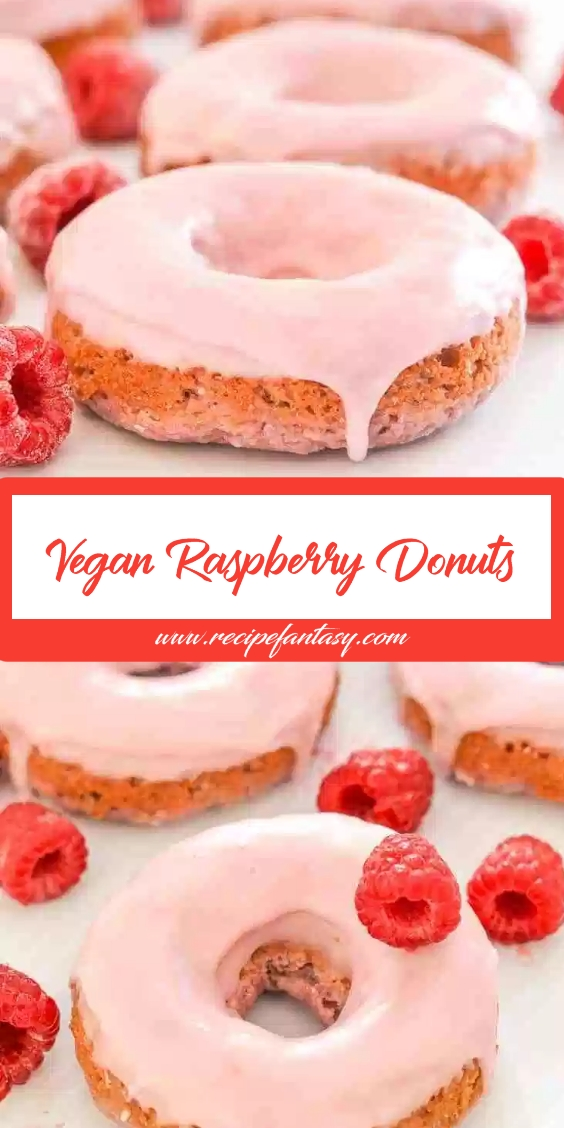 Vegan Raspberry Donuts