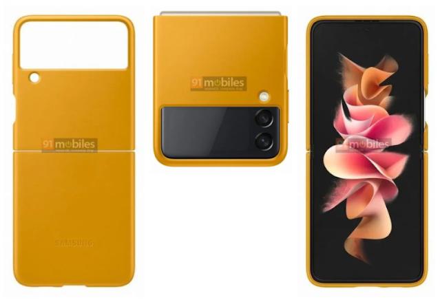تسريب جرابات هاتف Galaxy Z Flip3 الرسمية