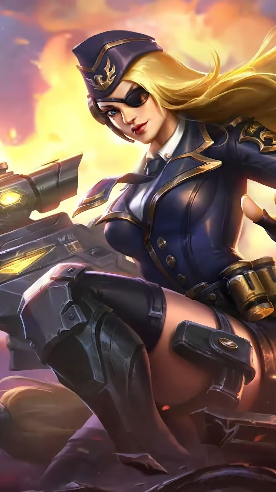 Wallpaper Lesley General Rosa Skin Mobile Legends HD for Android and iOS