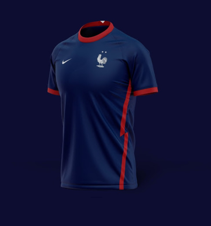 France Euro 2020 Home kit