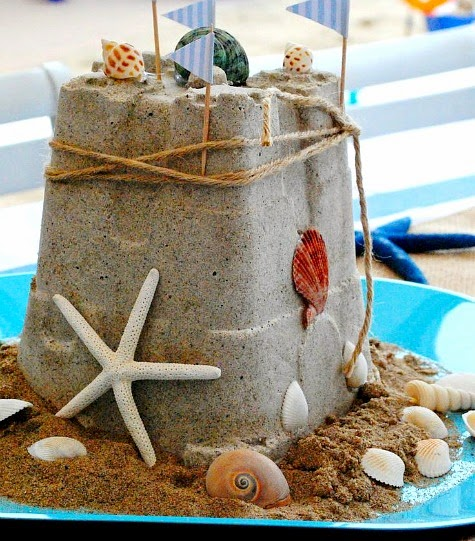 DIY Sandcastle Centerpiece Summer Crafts Completely
