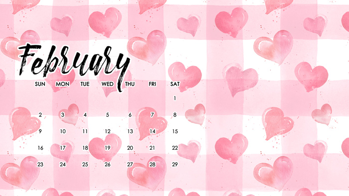 February Digital Calendar