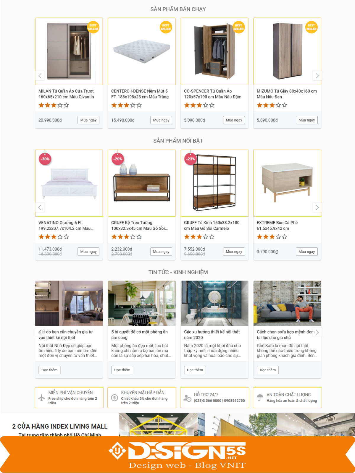 Mẫu Website bán hàng nội thất đẹp chuẩn seo - Ảnh 2