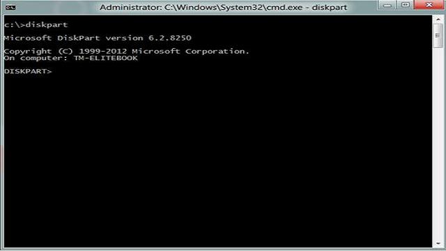 سطر الأوامر list disk