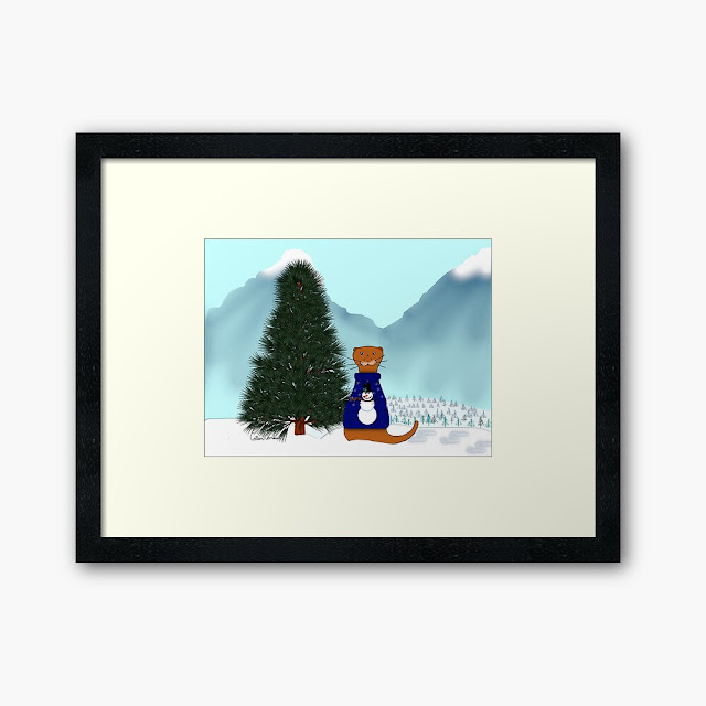 Oliver Finds His Christmas Tree Framed Art Print