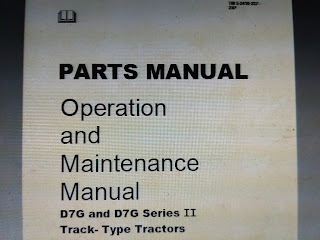 Parts Manual Bulldozer CAT D7G