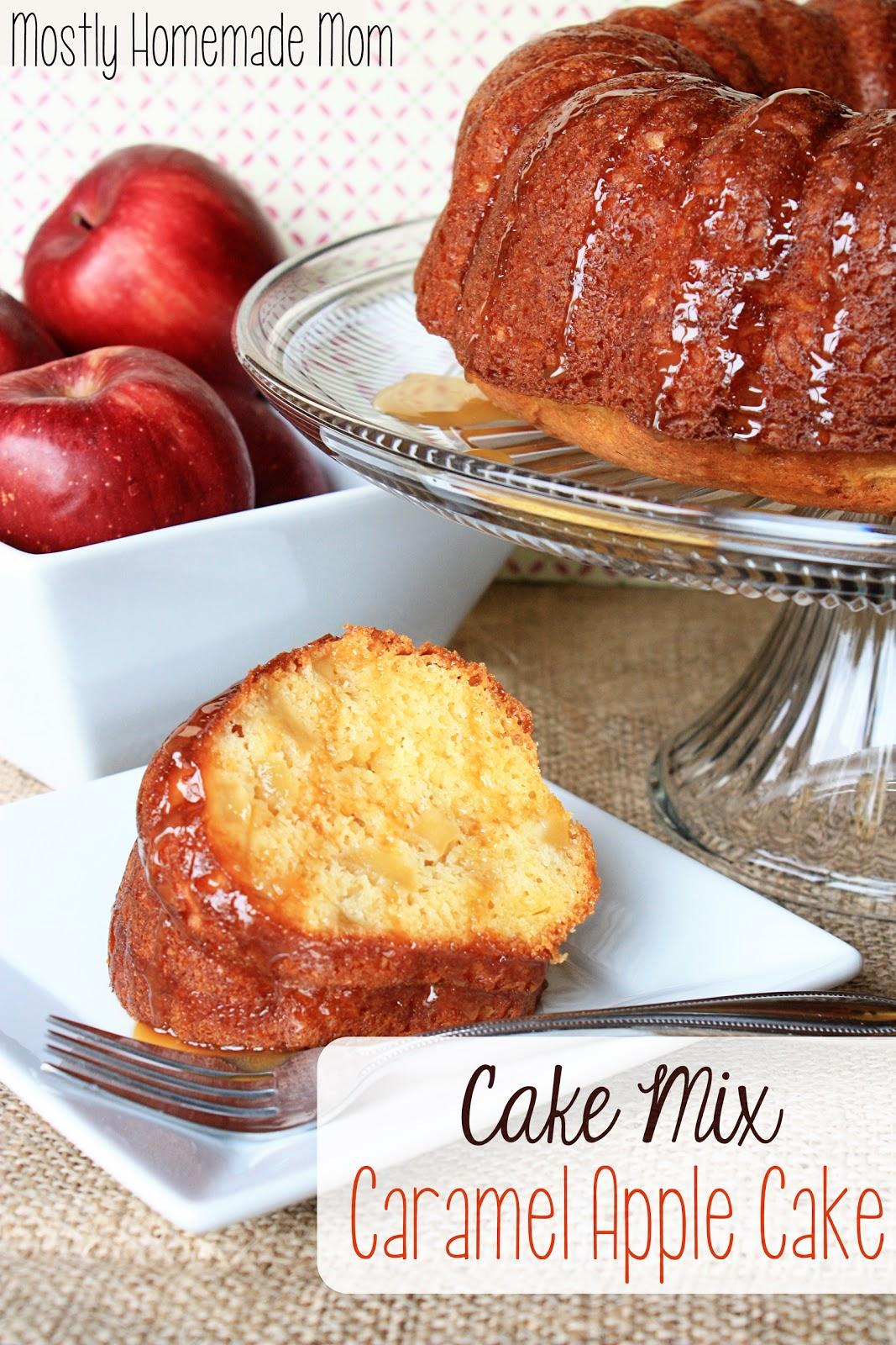 Yellow Cake Mix Apple Cake Recipe Applesauce