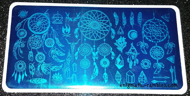 Stamping-Plate-Review-Born-Pretty-Store-BP-L100-BPS-BPL100-Dream-Catcher-Feather-Arrows