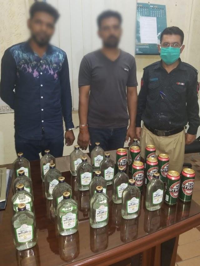 *سول لائنز پولیس اسٹیشن نے بدنام زمانہ شراب کے ڈیلرز گرفتار کرلئے*