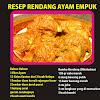 Resep dan Cara Membuat Rendang Ayam Empuk untuk Lebaran