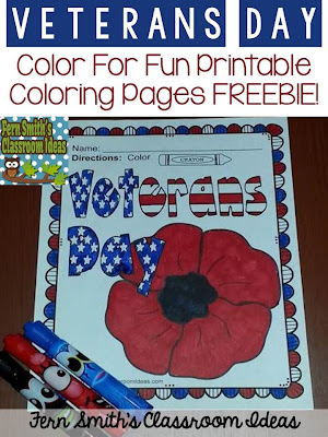 http://www.fernsmithsclassroomideas.com/2014/11/tuesday-teacher-tips-veterans-day.html