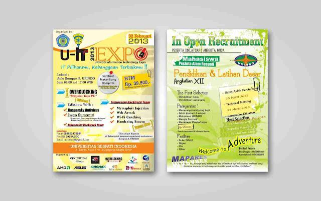 Contoh Desain Poster/Pamflate Format CDR Gratis Download