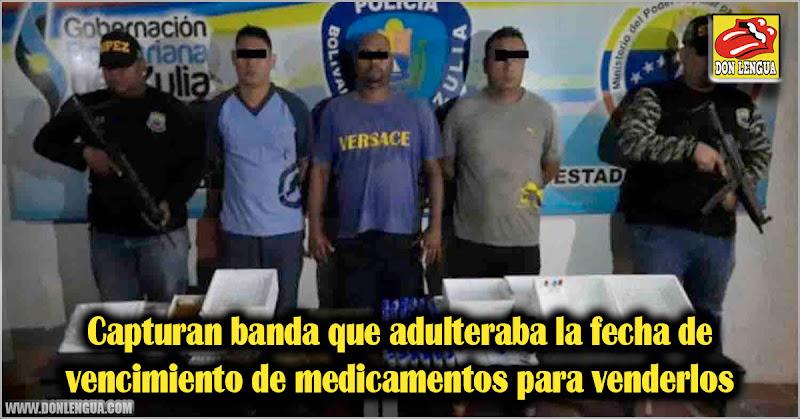 Capturan banda que adulteraba la fecha de vencimiento de medicamentos para venderlos