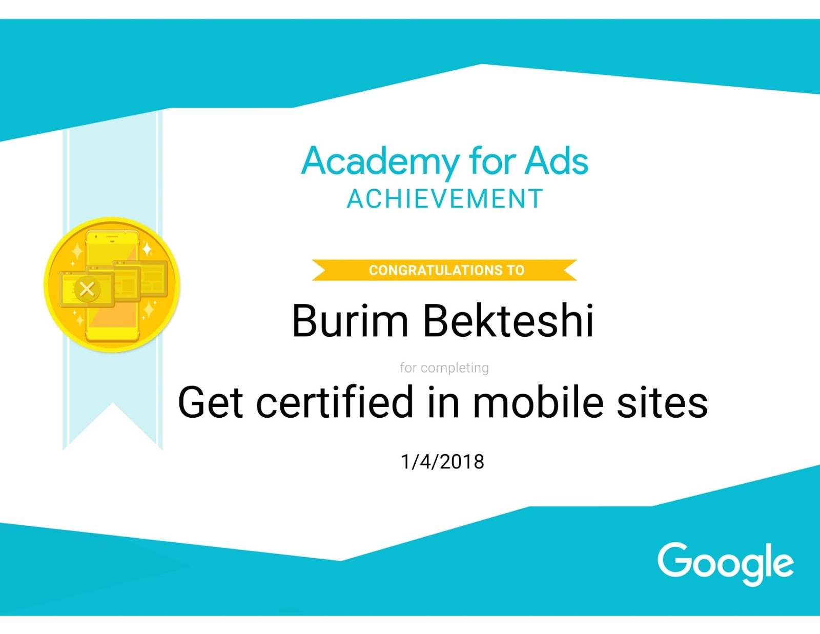 About get certified in mobile sites burim bekteshi 1betcityfo Image collections