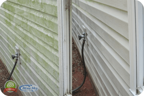 Westford Pressure Washing Service with Blue Sky