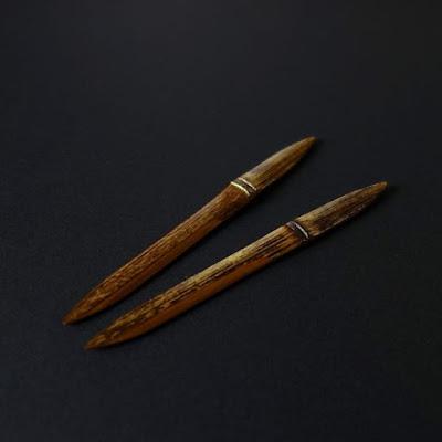 黒竹金装菓子切「夕星」