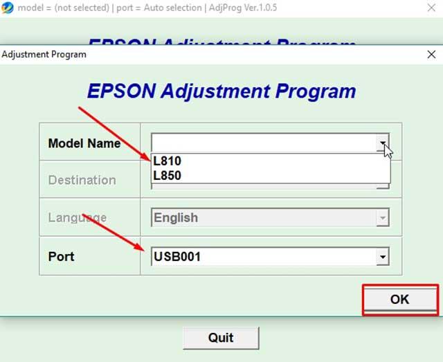 Reset Epson l810 y l850