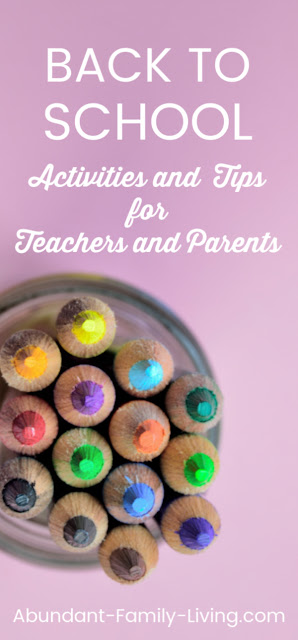 Back to School Activities and Tips for Teachers and Parents