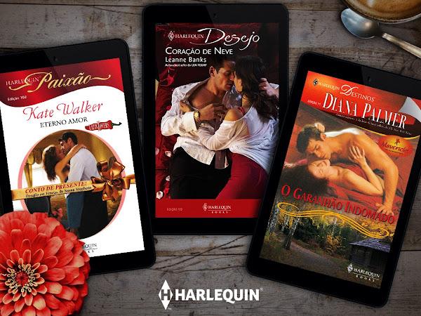 Romances de banca clássicos da Harlequin pela primeira vez em formato digital