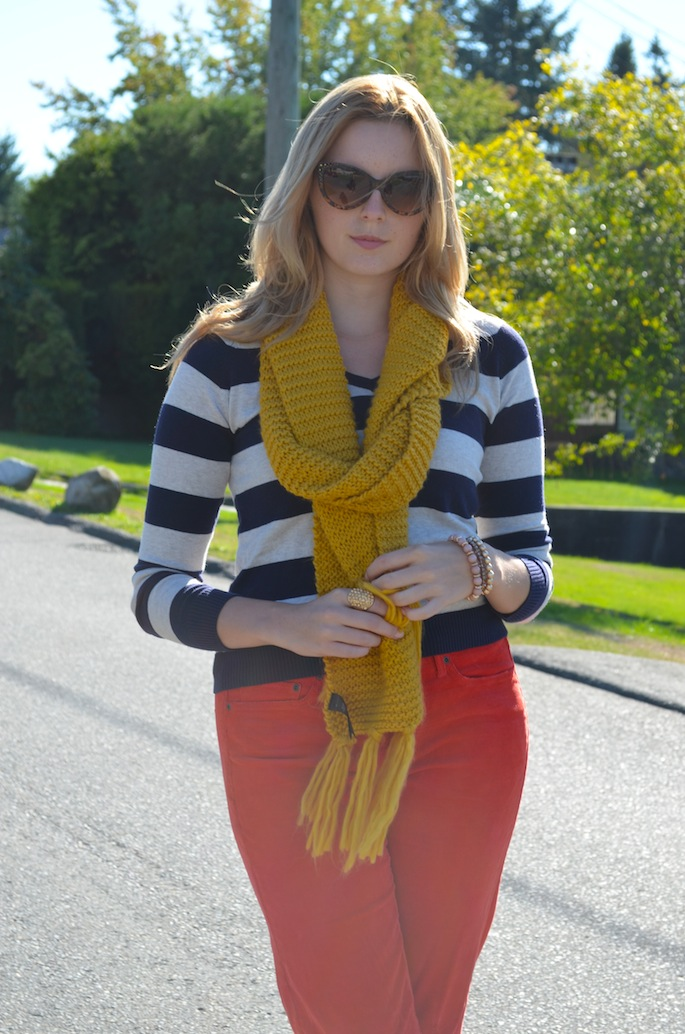 How to Style Stripes, How to Style Boyfriend Jeans, How to Style Coloured Denim, Vancouver Style Blog, Canadian Style Blog, Canadian Fashion Blog