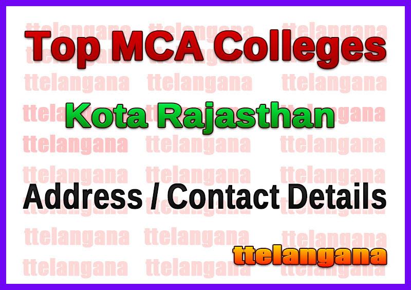 Top MCA Colleges in Kota Rajasthan