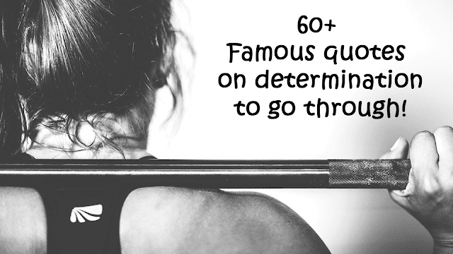 Famous quotes on determination