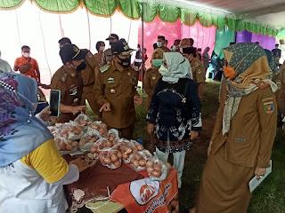 Dihadiri Bupati Mesuji Sapli, Pasar Murah Bersubsidi Pemprov Lampung Digelar Di Lapangan Harapan Jaya