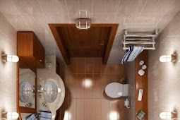 Kamar Mandi Mungil Dengan Desain Interior Minimalis