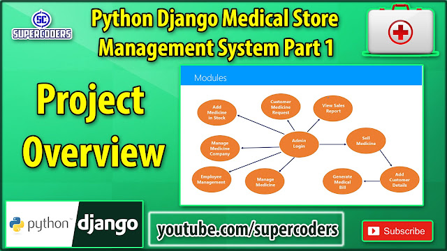 Python Django Medical Store Management System Part 1 | Project Overview