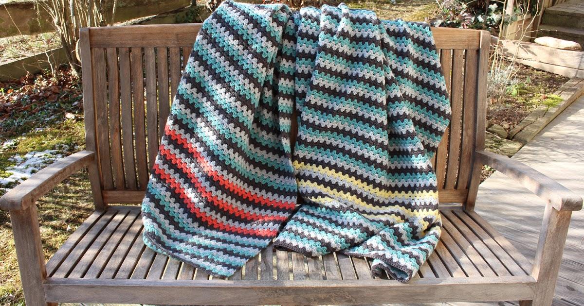 4 Freizeiten Langzeitprojekt Beendet Meine Granny Stripes Häkeldecke