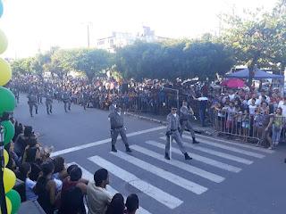Vídeo da apresentação da Rotam do 4° BPM durante o Desfile Cívico-Militar de Guarabira: