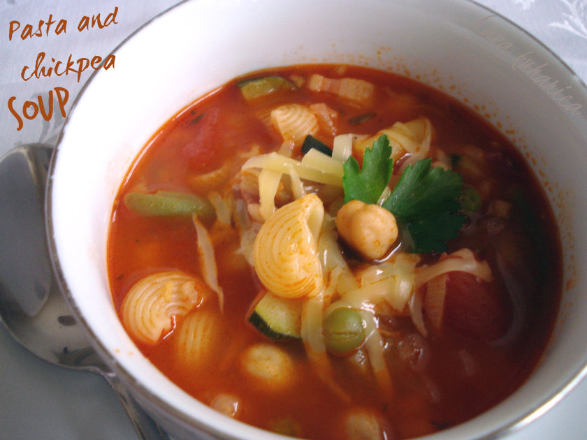 Pasta and chickpea soup by Laka kuharica: chickpeas and pasta make this wonderful soup especially rich and fulfilling.