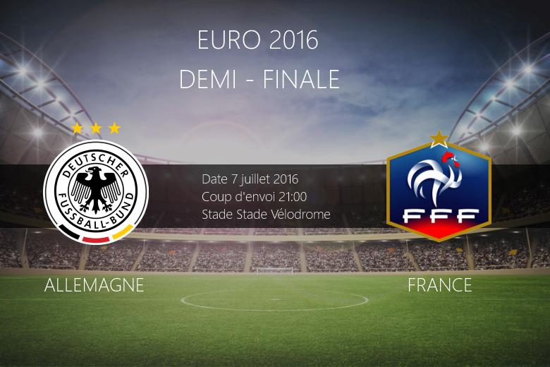 Euro 20 16 : Pronostic Allemagne - France