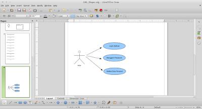 Cara Menggambar UML di Linux Dengan LibreOffice Draw