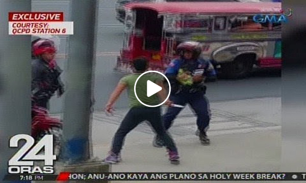 Exclusive: Panlalaban ng isang lalaki sa traffic constable gamit ang kutsilyo, na-hulicam