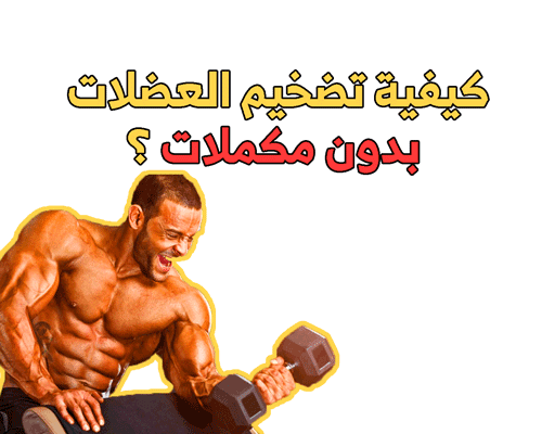 كيفية تضخيم العضلات بدون مكملات ؟