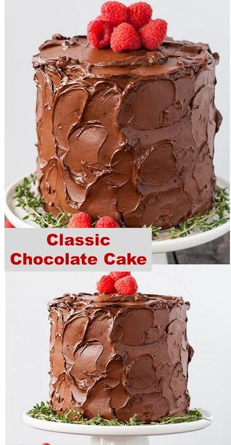 Classic Chocolate Cake #Classic #baking #Cake #Chocolate #chocolatecake #dessert