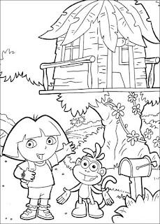 Ausmalbilder von Dora 2 zum Ausdrucken